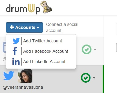 DrumUp Add Account