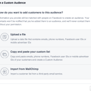 Facebook customer list